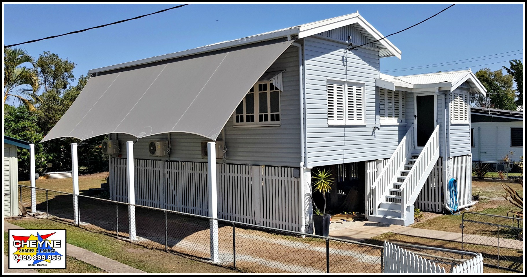 Cheyne Shades and Canvas in Townsville have really utilised the great potential of DualShade 350.