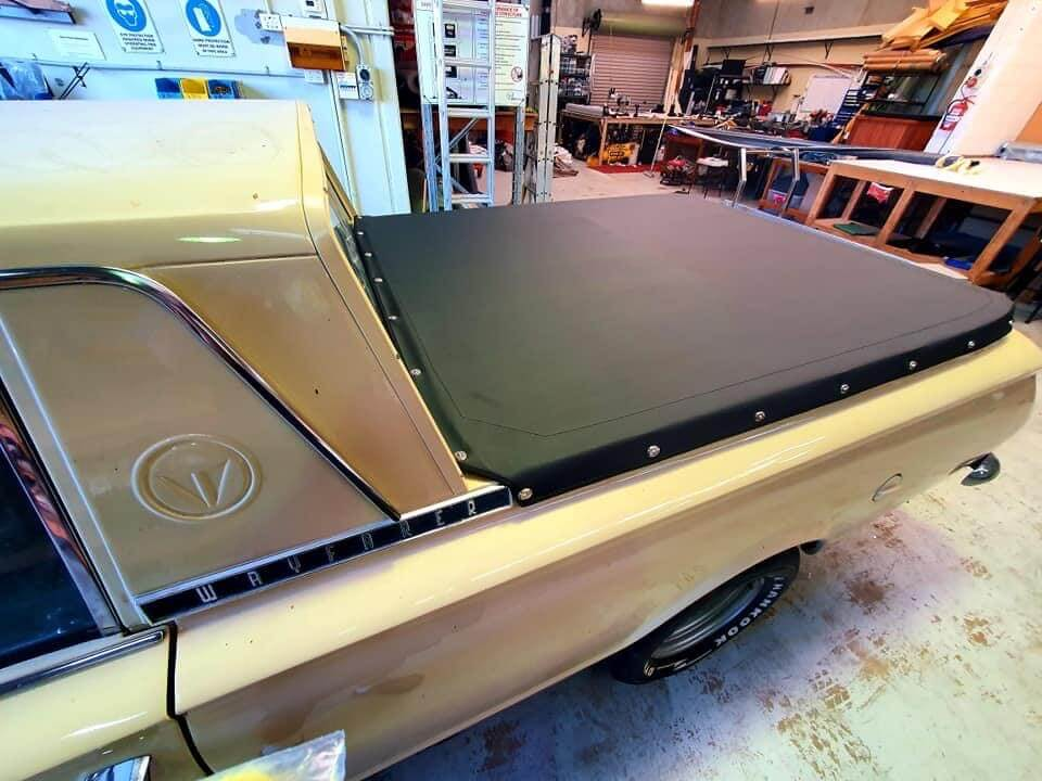An oldie but a goodie - LJ Canvas in Perth, Western Australia using our Tonneau fabric