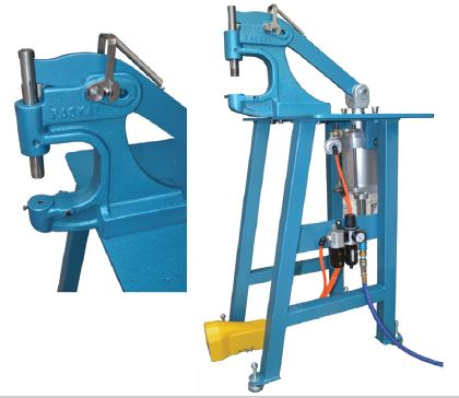 Tired of putting eyelets in by hand? How about a Pneumatic Eyelet Press