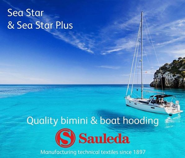 Sauleda Sea Star and Sea Star Plus offer a wide range of colour options for quality bimini and boat hooding.