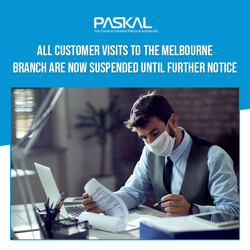 Paskal - Melbourne branch are now suspended, until further notice due to COVID-19